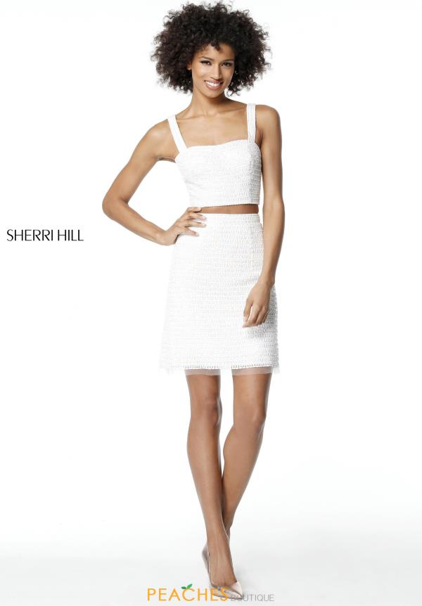 Sherri Hill Short Two Piece Beaded Dress 51279
