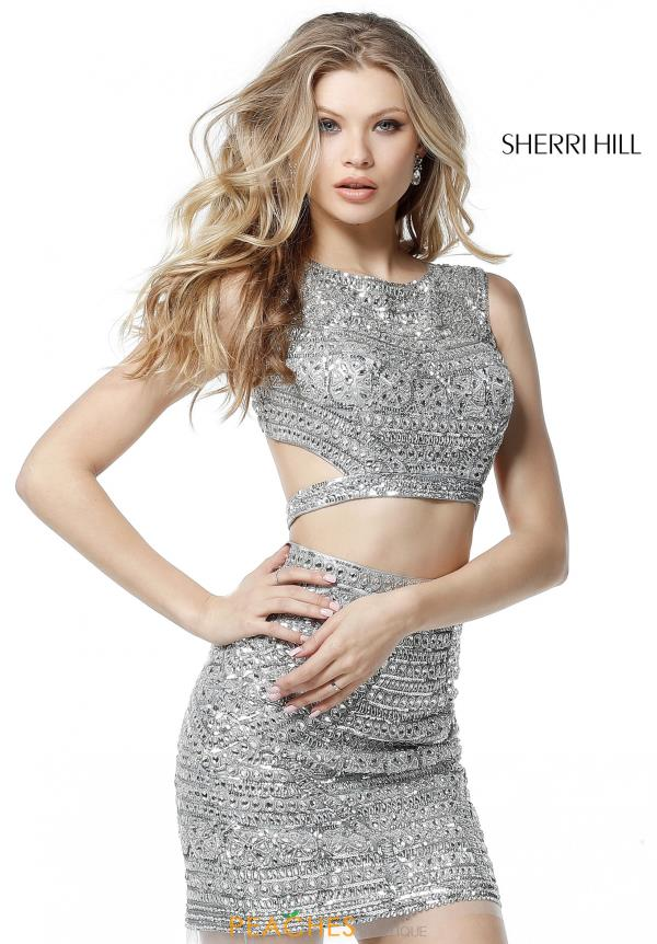 Sherri Hill Short Two Piece Beaded Dress 51281