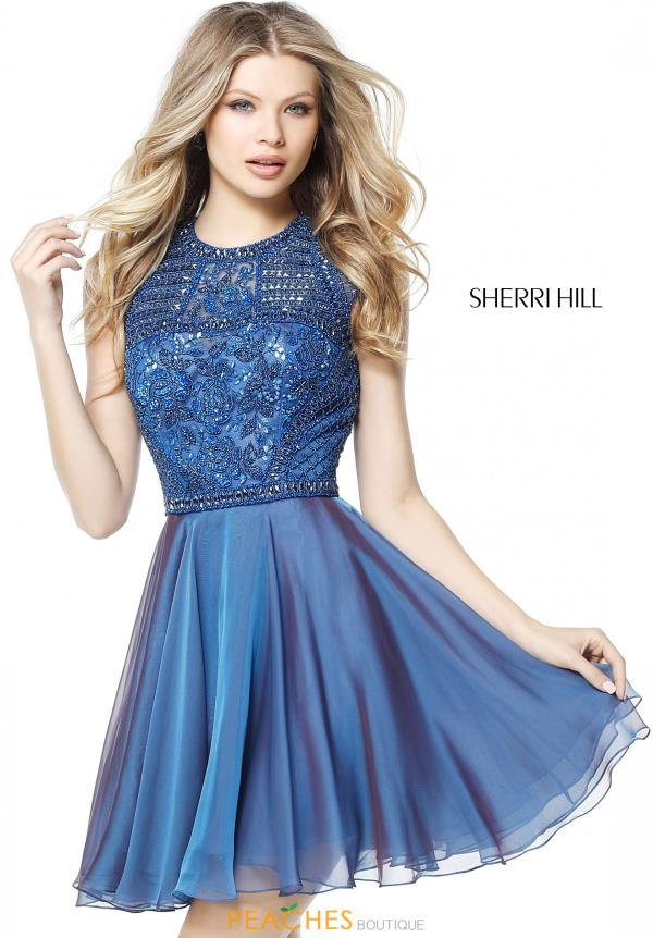Sherri Hill Short A Line Beaded Dress 51293