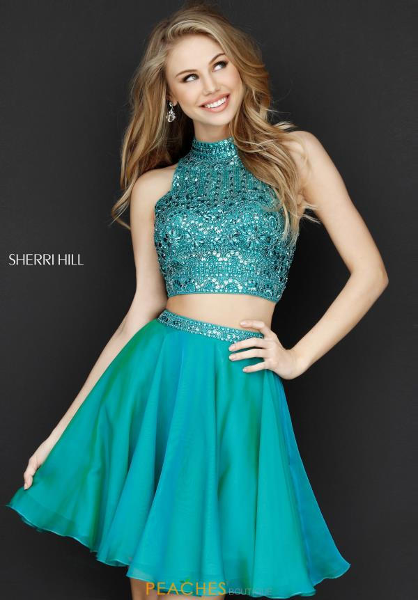 Sherri Hill Short Two Piece Beaded Dress 51296