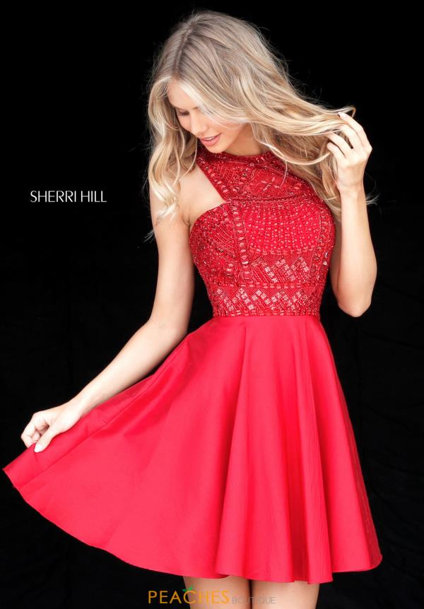 Sherri Hill Short Full Figured Halter dress 51302