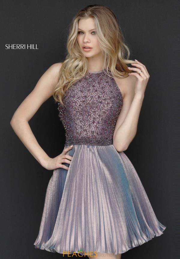 Sherri Hill Short Halter Beaded Dress 51303