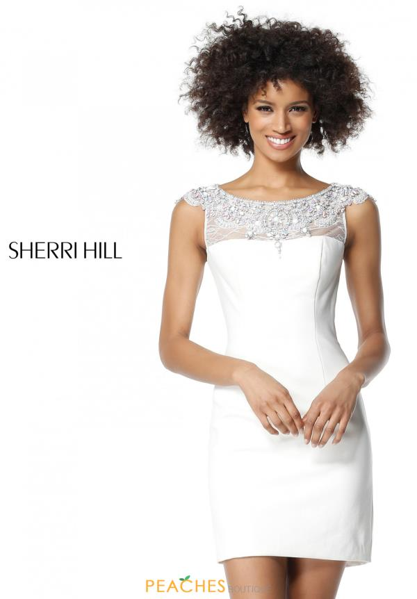 Sherri Hill Short Lace Fitted Dress 51328