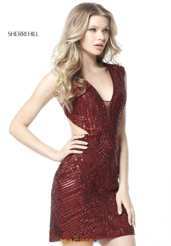 Sherri Hill Short Open Back Dress 51362