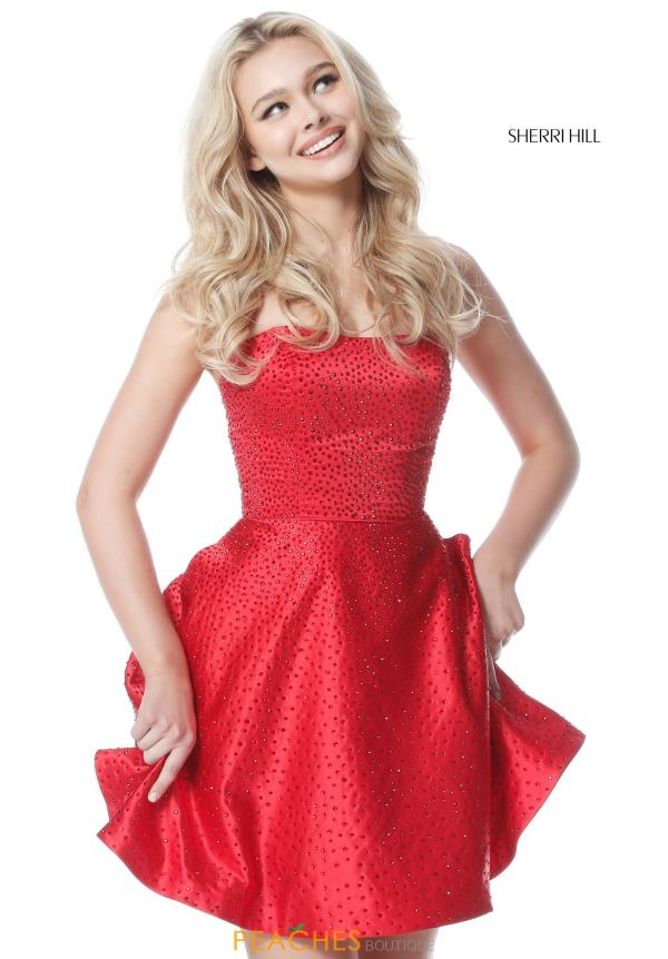 Sherri Hill Short A Line Dress 51365