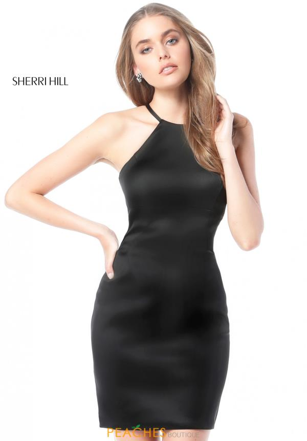 Sherri Hill Short Halter Open Back Dress 51421