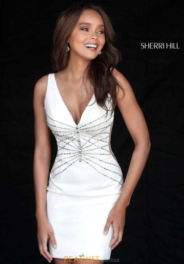 Sherri Hill Short V- Neck Dress 51440