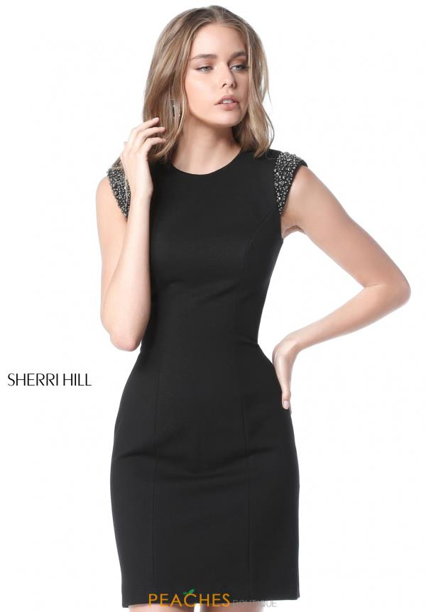 Sherri Hill Short Cap Sleeve Dress 51442