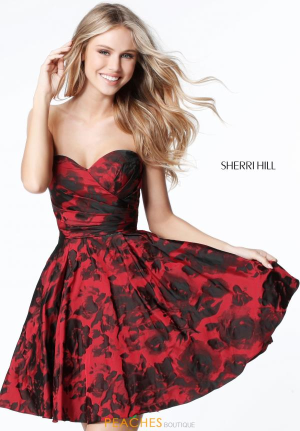 Sherri Hill Short Sweetheart Strapless Dress 51502