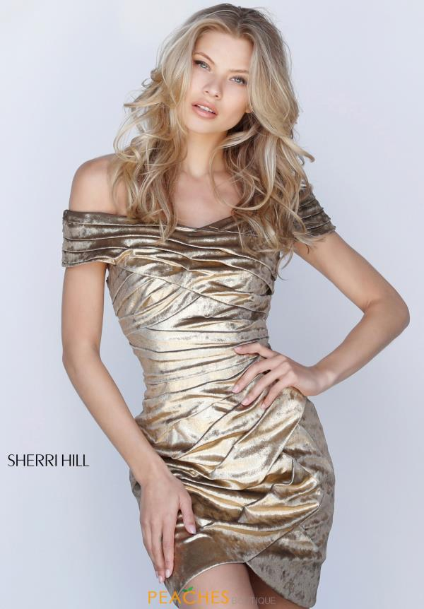 Sherri Hill Short Off the Shoulder Dress 51511