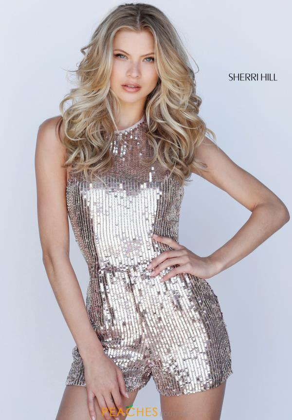 Sherri Hill Short Beaded Romper 51513