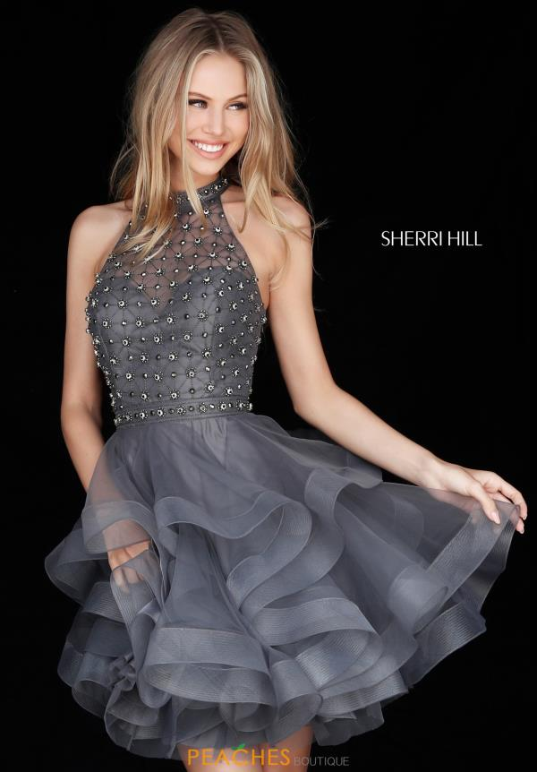 Sherri Hill Short Beaded Dress 51559