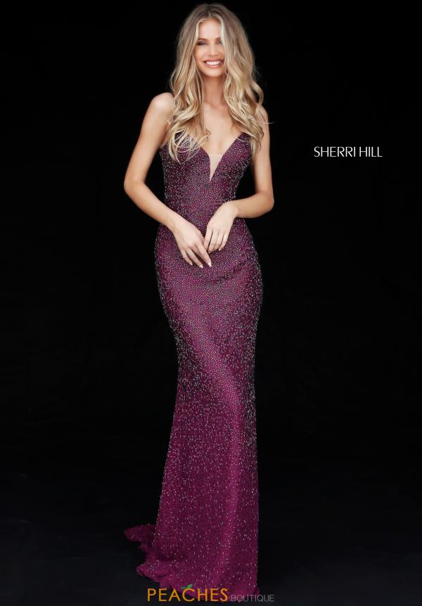Sherri Hill V- Neckline Fitted Dress 50860