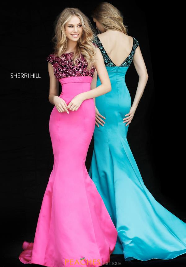 Sherri Hill Mermaid Beaded Dress 51373