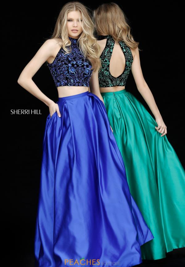 Sherri Hill Two Piece Beaded Dress 51381
