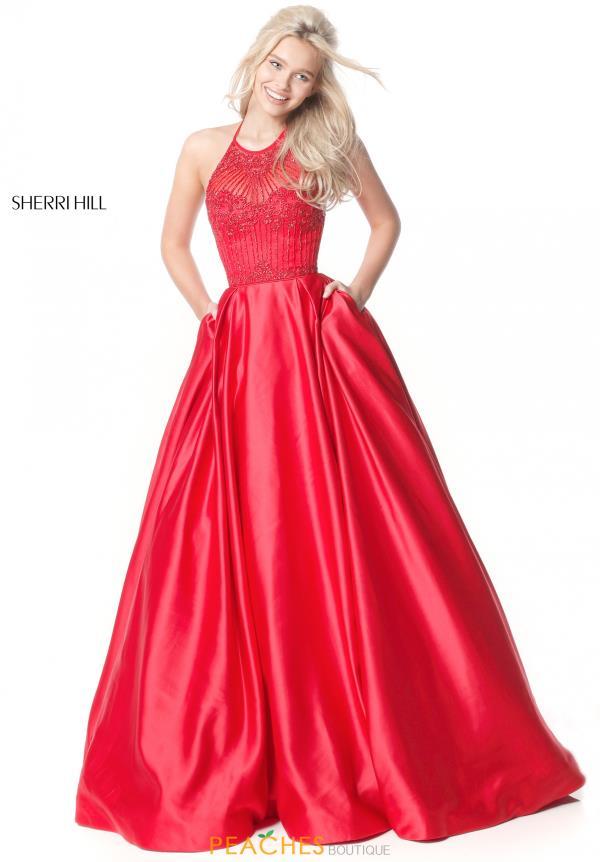 Sherri Hill Halter A Line Dress 51395