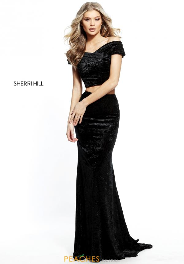 Sherri Hill Velvet Two Piece Dress 51408