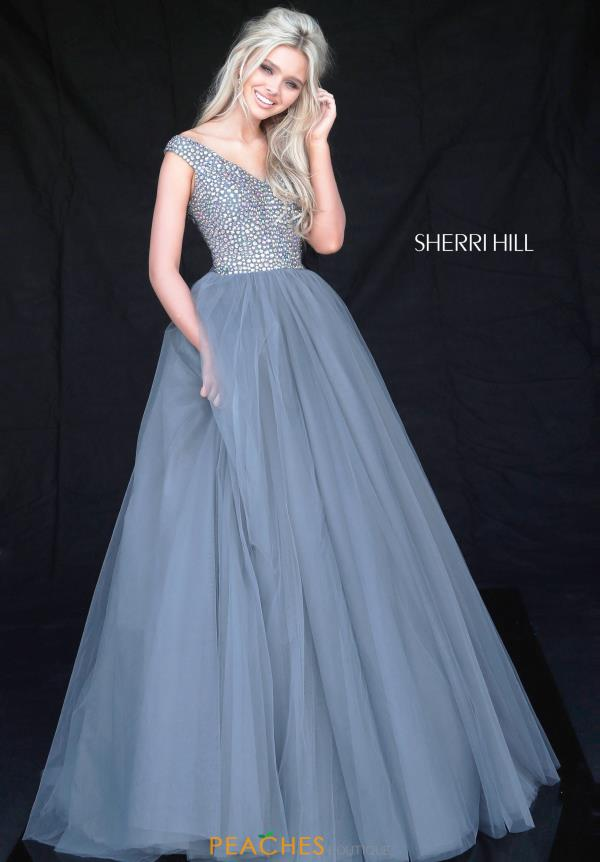 Sherri Hill A Line Beaded Dress 51447