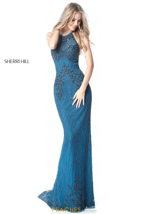 Sherri Hill Beaded Fitted Dress 51471