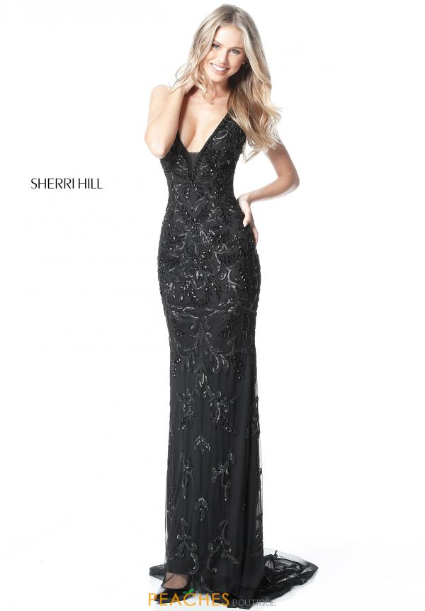 Sherri Hill Beaded Fitted Dress 51473