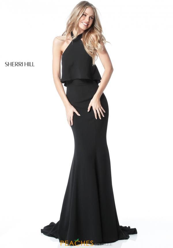 Sherri Hill Halter Long Dress 51488