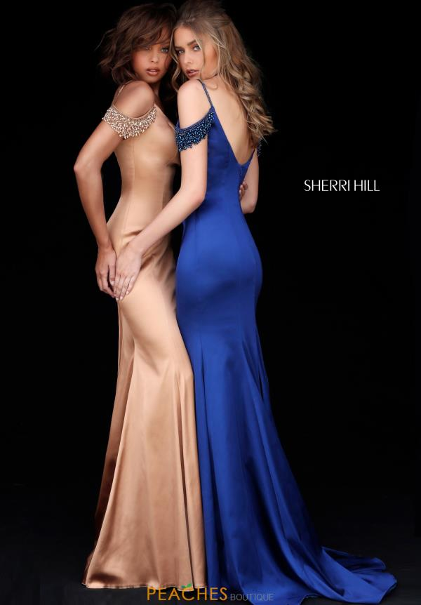 Sherri Hill Cap Sleeve Beaded Dress 51541