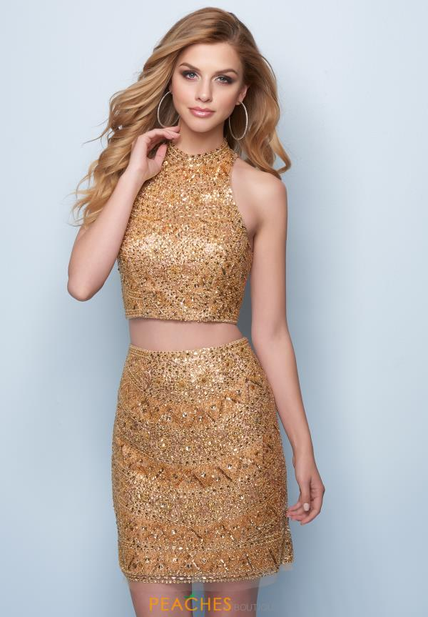 Splash Two Piece Beaded Dress E719