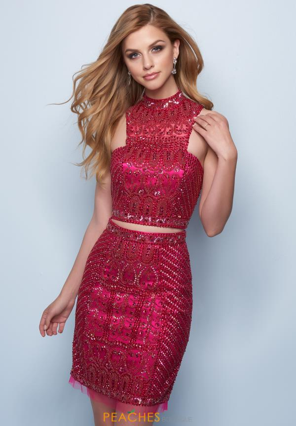 Splash Two Piece Beaded Dress E728
