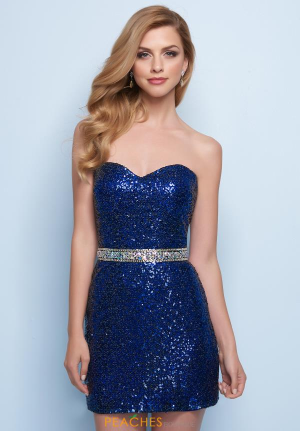 Splash Strapless Sequins Dress E745