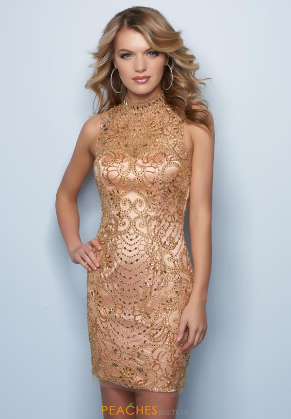 Splash Beaded Short Dress E746