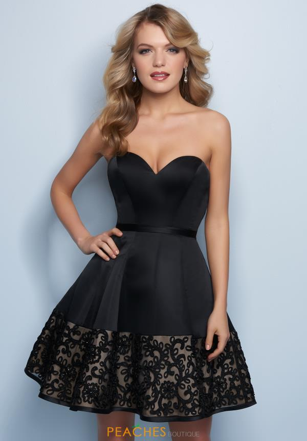 Splash Strapless A Line Dress E756