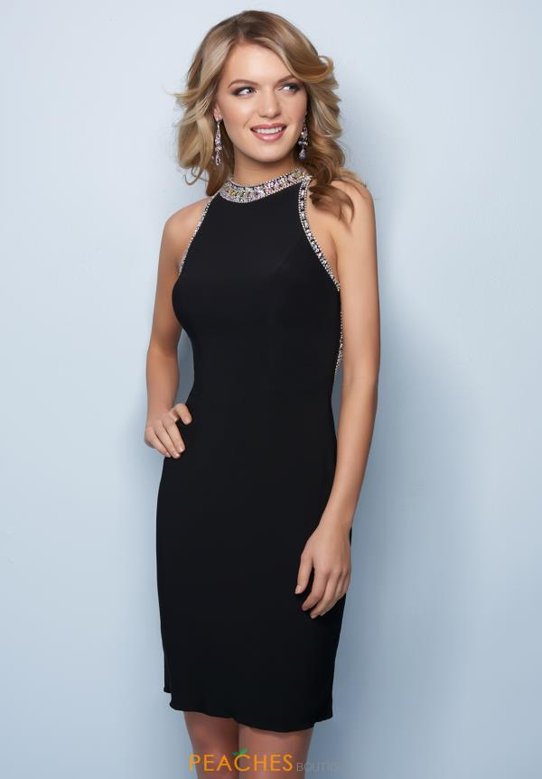 Splash Black Fitted Dress E760