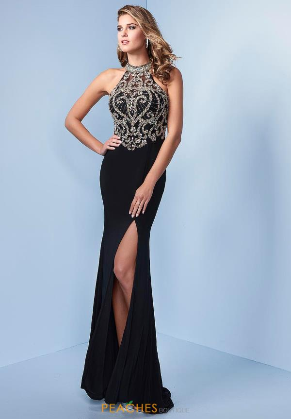 Splash Beaded Fitted Dress J527