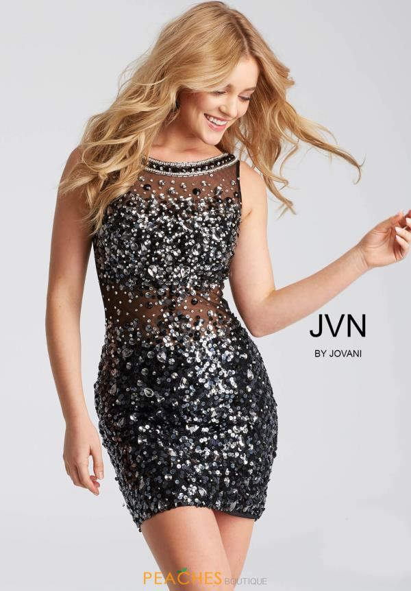 JVN by Jovani High Neckline Beaded Dress JVN32403