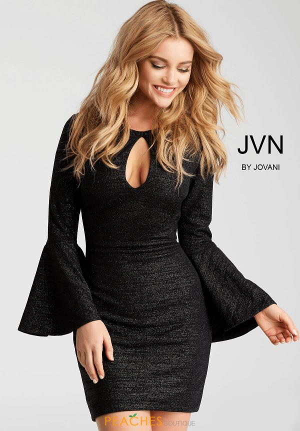 JVN by Jovani Sleeved Fitted Dress JVN51432