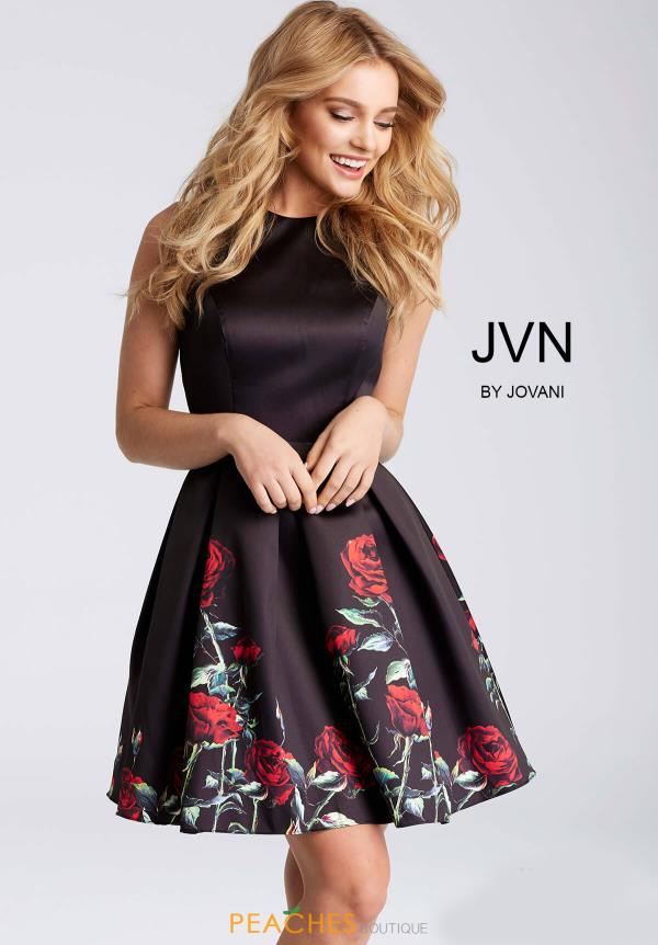 JVN by Jovani Black Dress JVN53197