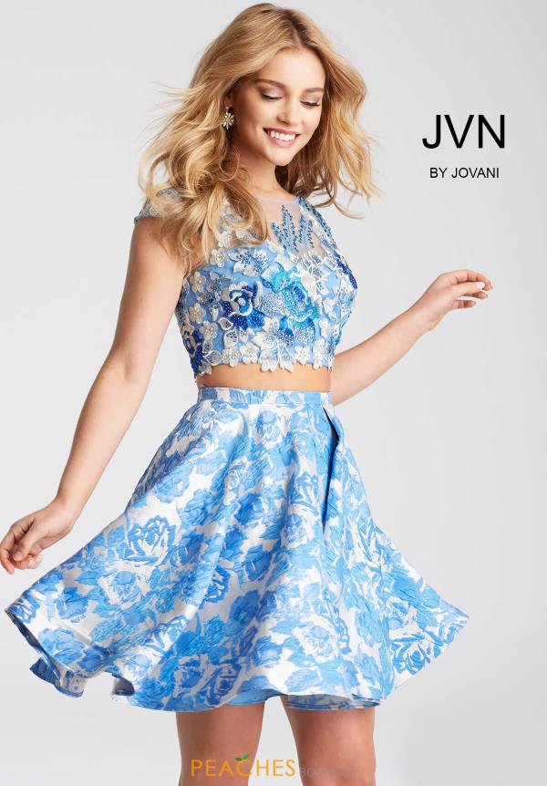 JVN by Jovani Blue Dress JVN54468