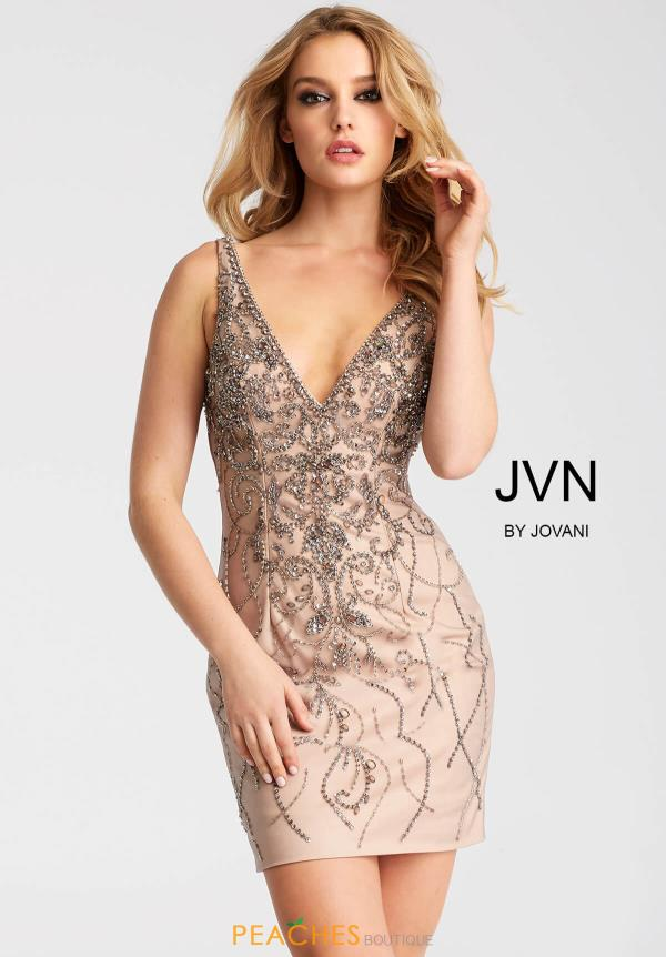 JVN by Jovani V- Neckline Dress JVN55223
