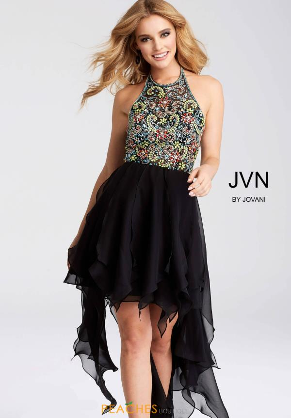 JVN by Jovani Black Dress JVN53128