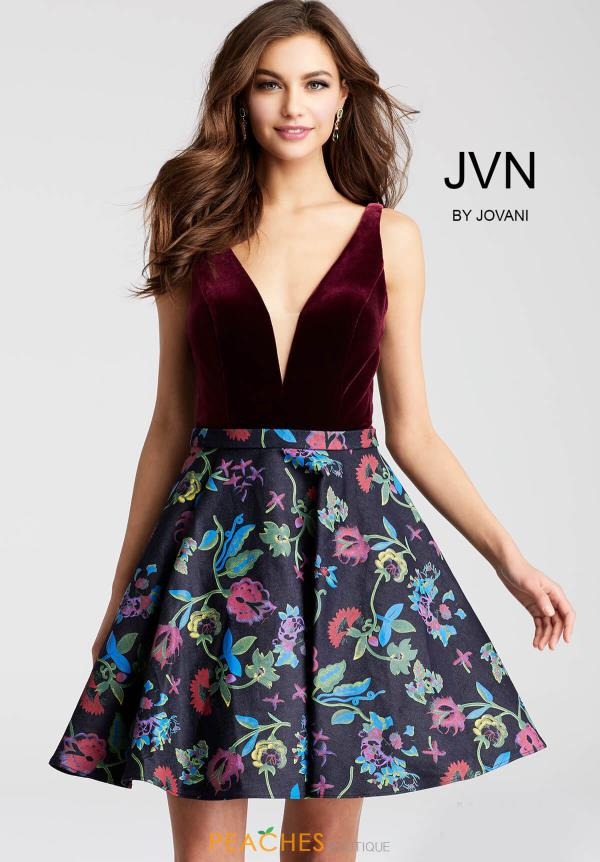 JVN by Jovani Purple Dress JVN54479