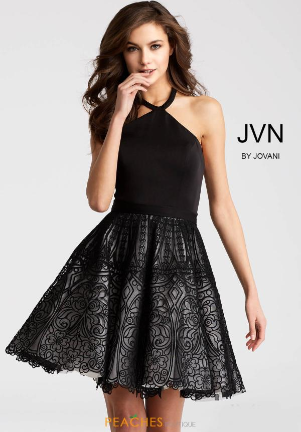 JVN by Jovani Black Dress JVN58127