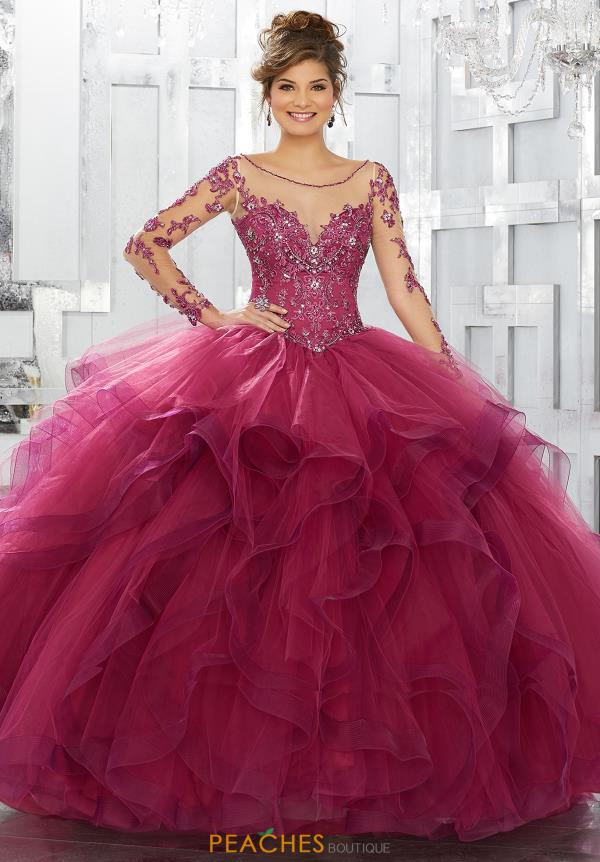 Vizcaya Quinceanera Long Sleeved Ball Gown 89142
