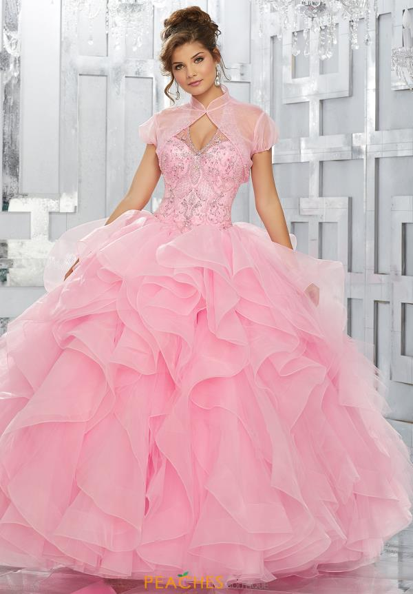 Vizcaya Quinceanera REuffled Skirt Ball Gown 89144