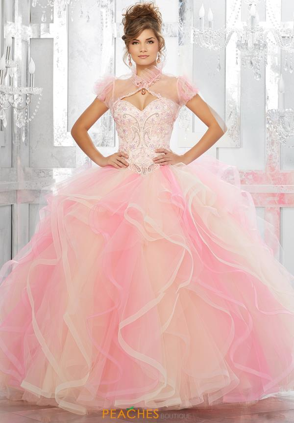 Vizcaya Quinceanera Strapless Beaded Gown 89146
