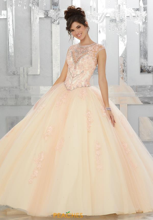 Vizcaya Quinceanera High Neckline Beaded Dress 89147