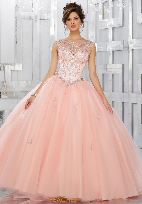 Vizcaya Quinceanera Lace Back Beaded Dress 89150