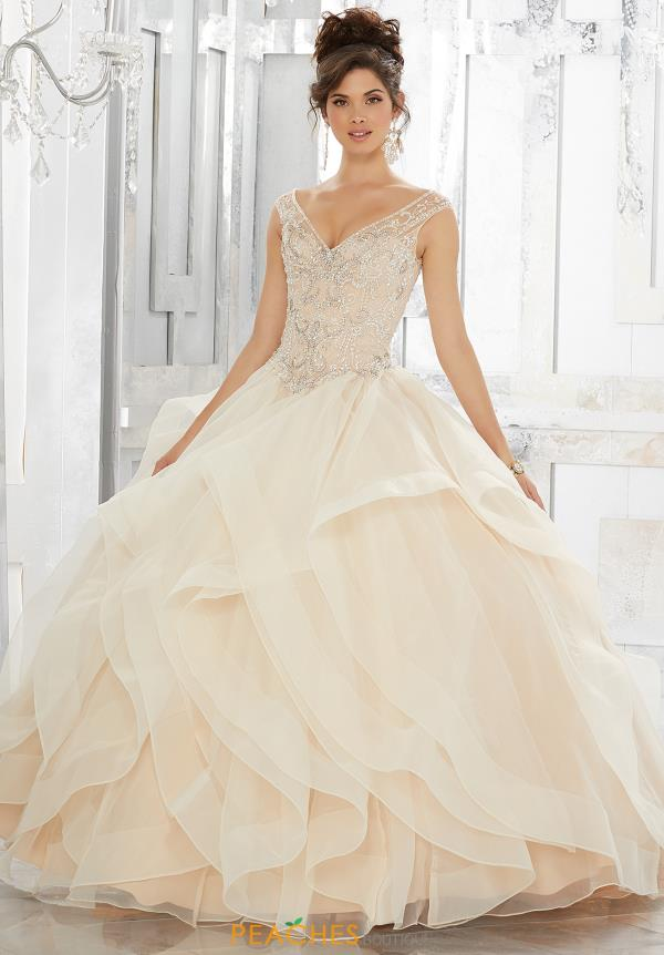 Vizcaya Quinceanera V- Neckline Beaded Gown 89151