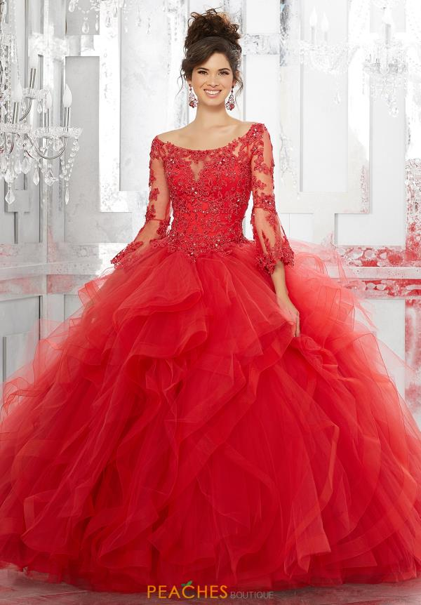Vizcaya Quinceanera Sleeved Ball Gown 89153