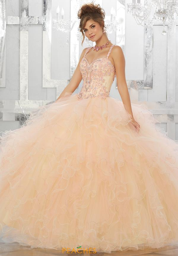 Vizcaya Quinceanera Beaded Long Dress 89156