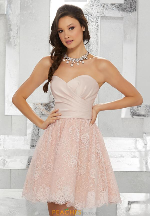 MoriLee Sticks & Stones Strapless A Line Dress 9455